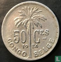 Belgisch-Kongo 50 centimes 1924 (FRA)