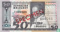 Madagascar 50 Francs 1974 Specimen
