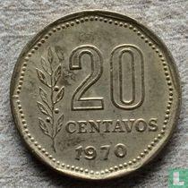 Argentina 20 centavos 1970