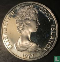 "Cookeilanden 25 dollars 1977 ""25th anniversary Accession of Queen Elizabeth II"""