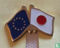Vlag Europese Unie-Japan