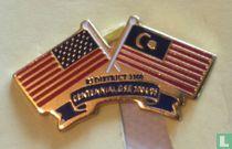 Vlag USA-Maleisië