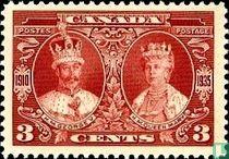 Koning George V en koningin Mary