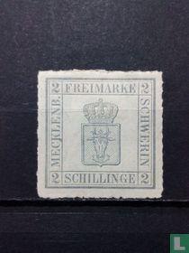 AD Mecklenburg Schwerin Mi-Nr. 6b gedood