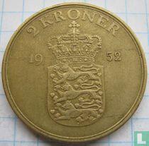 Denemarken 2 kroner 1952