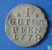 Pruisen 1 guter pfennig 1778