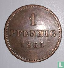 Beieren 1 pfennig 1855