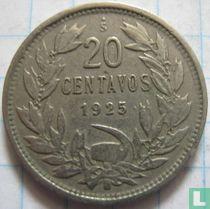 Chili 20 centavos 1925