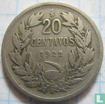 Chili 20 centavos 1922