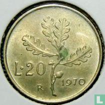 Italië 20 lire 1970