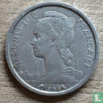Français Afar et Issaland 1 franc 1969