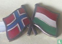 Vlaggen Noorwegen-Hongarije