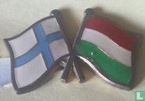 Vlaggen Finland-Hongarije