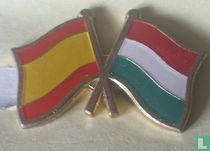 Vlaggen Spanje-Hongarije