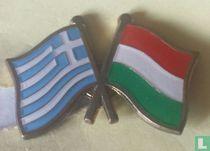 Vlaggen Griekenland-Hongarije