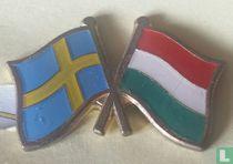 Vlaggen Zweden-Hongarije