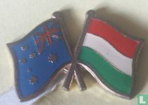 Vlaggen Australië-Hongarije