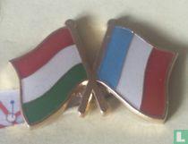 Vlaggen Hongarije-Frankrijk