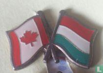 Vlaggen Canada-Hongarije
