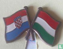 Vlaggen Kroatië-Hongarije