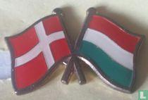 Vlaggen Denemarken-Hongarije
