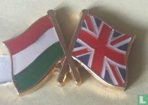 Vlaggen Hongarije-Verenigd Koninkrijk