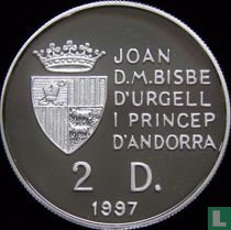 "Andorra 2 diners 1997 (PROOF) ""1998 Winter Olympics - Nagano"""