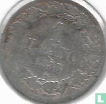 België 1 franc 1838 (kleine ster)