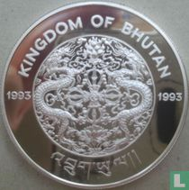 """Bhutan 300 ngultrums 1993 (PROOF) """"1994 Football World Cup in USA"""""""