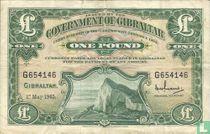 Gibraltar 1 pound 1965