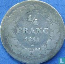 België ¼ franc 1841