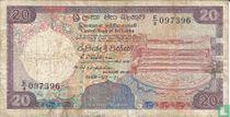 Sri Lanka 20 Rupees 1989