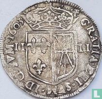 France ¼ ecu 1603