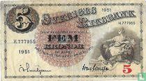 1951 5 Schweden Kronen