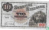 Schweden 10 Kronor 1934