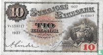 Schweden 10 Kronor 1937