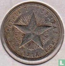 Cuba 20 centavos 1915 (Hoog reliëf ster)