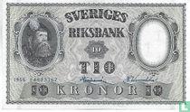 1956 10 Schweden Kronen