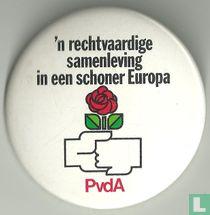 'n rechtvaardige samenleving in een schoner Europa
