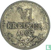 Baden 6 kreuzer 1807