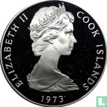 "Cookeilanden 2 dollars 1973 (PROOF) ""20th anniversary of the Coronation of Elizabeth II"""