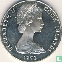 "Cookeilanden 7½ dollars 1973 (PROOF) ""Bicentenary Cook's discovery of Hervey Islands"""