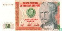 Peru 50 Intis 1987