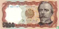 Peru 5.000 Soles de Oro 1985
