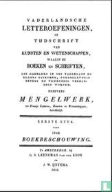 Vaderlandsche letteroefeningen of tijdschrift van kunsten en wetenschappen