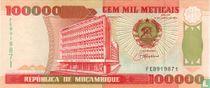 Mozambique 100,000 Meticais 1993