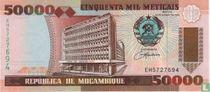 Mozambique 50,000 Meticais 1993