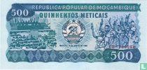 Mozambique 500 Meticais 1986