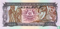Mozambique 5.000 Meticais 1989