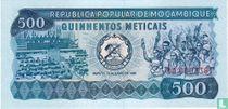Mozambique 500 Meticais 1980